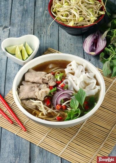 Gambar Hasil Membuat Resep Beef Pho Vietnam