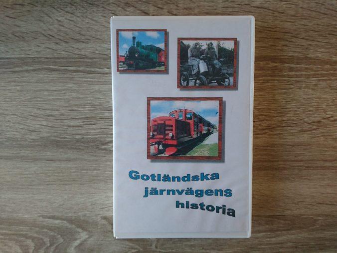VHS-kassett med filmen Gotländska järnvägens historia