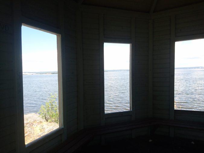 Utsikt från lusthuset, Aborreberg Norrköping