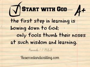 start with god