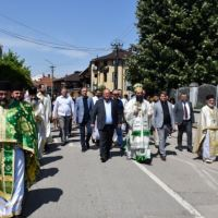 Veliki broj vernika učestvovao u litiji povodom gradske slave Leskovca