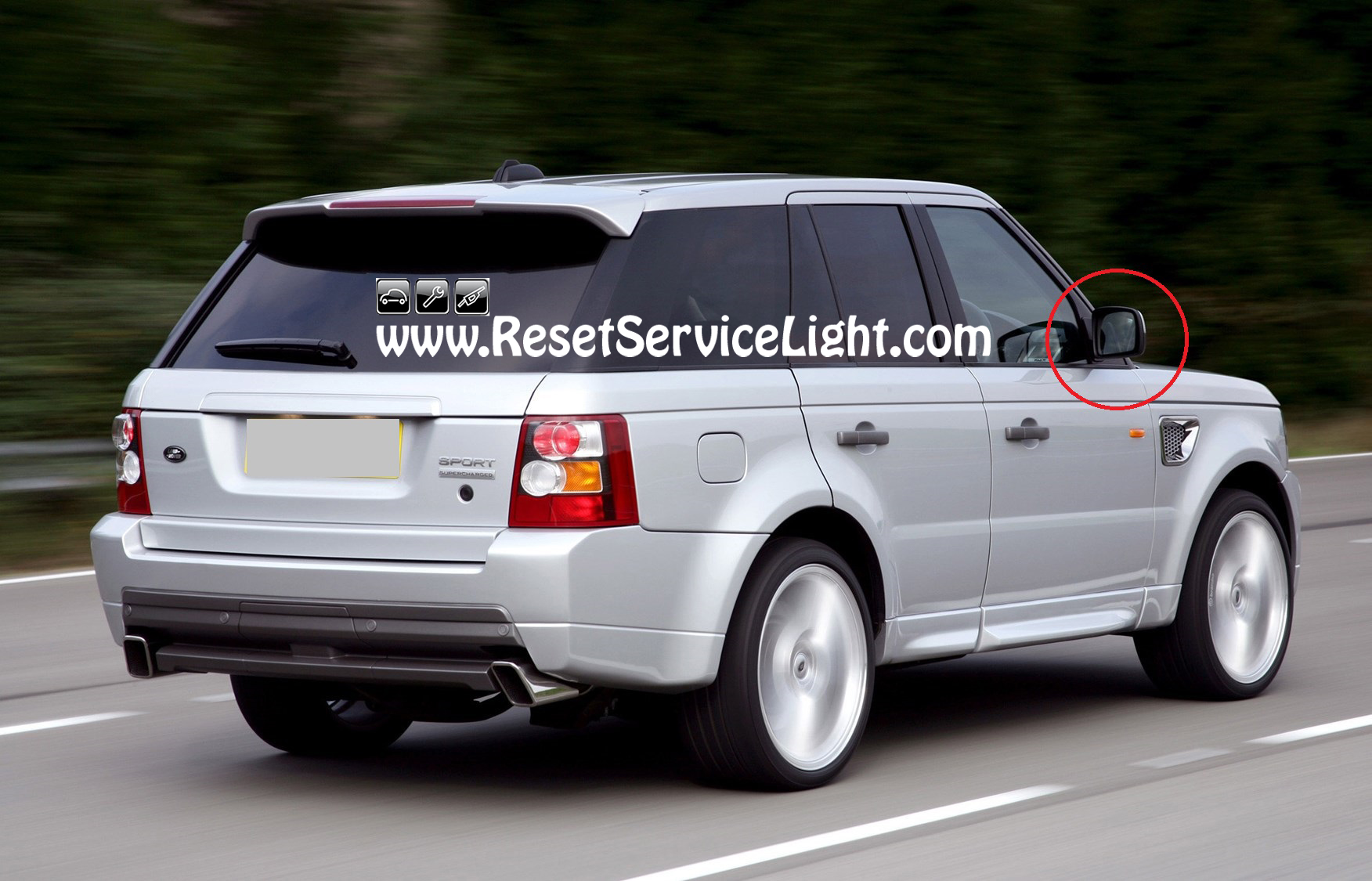 DIY change the glass of the side mirror on Range Rover Sport