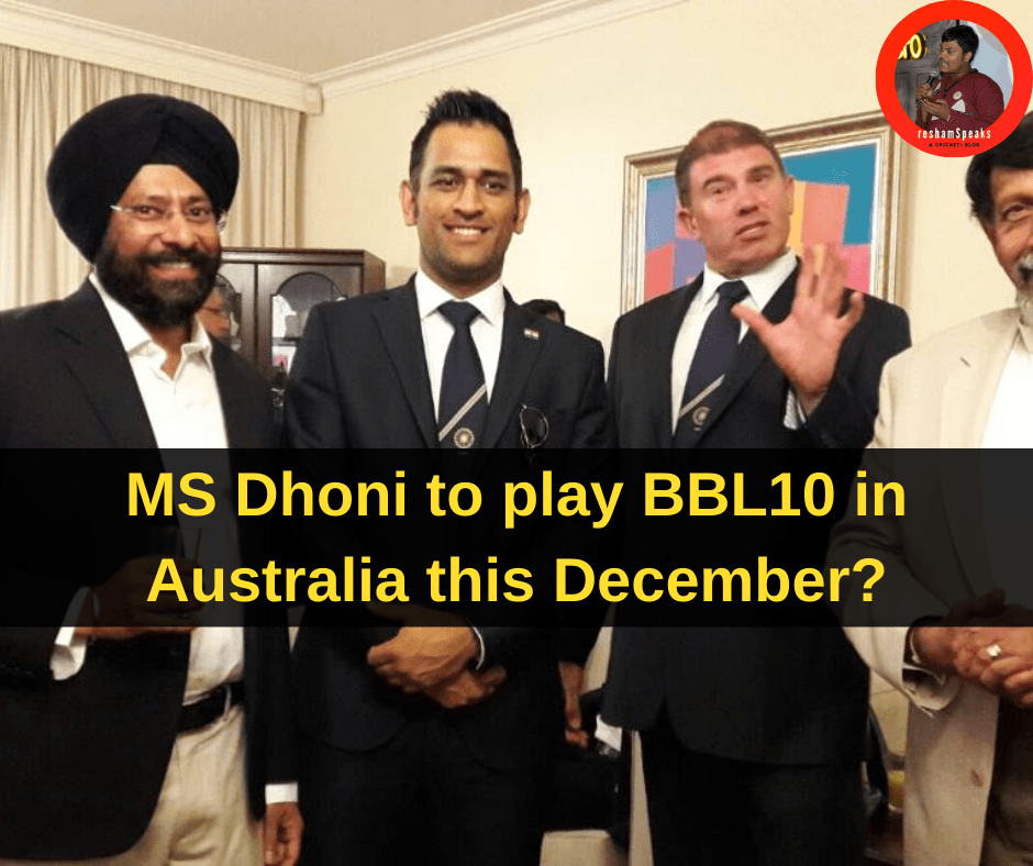 MS Dhoni set to resume action in Australia soon?