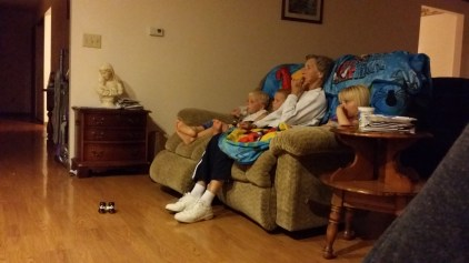 Movie night with Great-Grandma