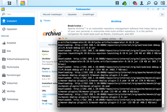 Running Apache Archiva on a Synology NAS – Yet Another Coder's Blog