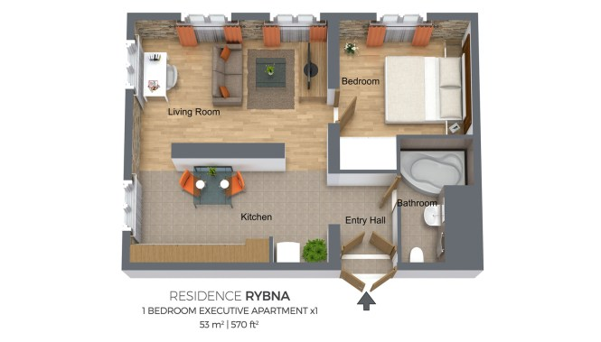 One Bedroom Apartment Type 1 Residence Rybna