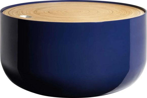 BLYTH 130,00€ +0,40€ d'éco-part Table d'appoint en bambou et MDF H.29 x D.60 cm 801281