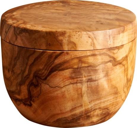 FARNANA 27,00€ Pot à sel en bois d'olivier D.9 x H.7 cm 802551