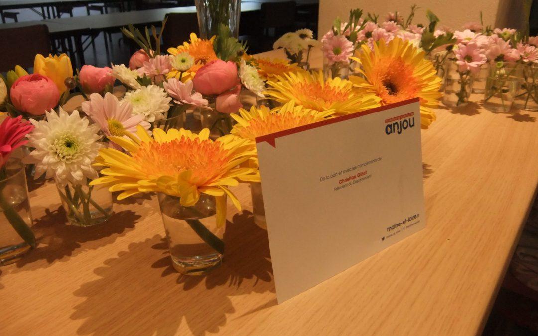 Résidence «Les Tilleuls» – Fleurs offertes par le Conseil Départemental 49 – Un grand merci !!