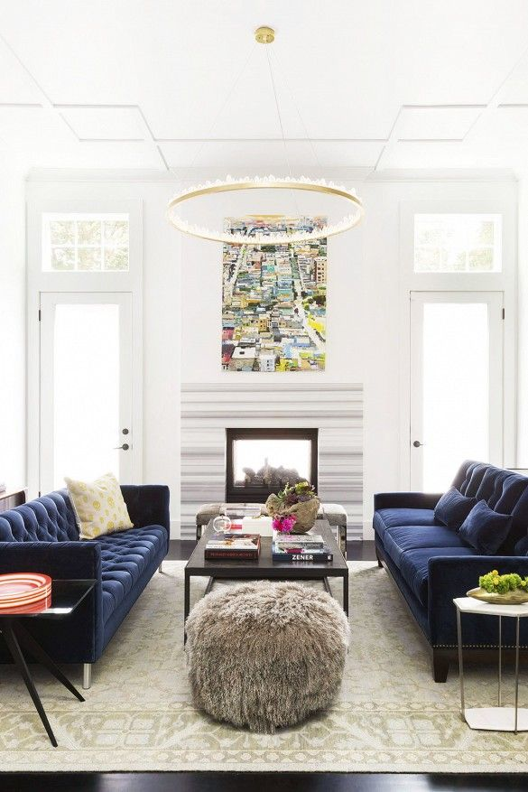 21 Diffe Style To Decorate Home With Blue Velvet Sofa Part 80
