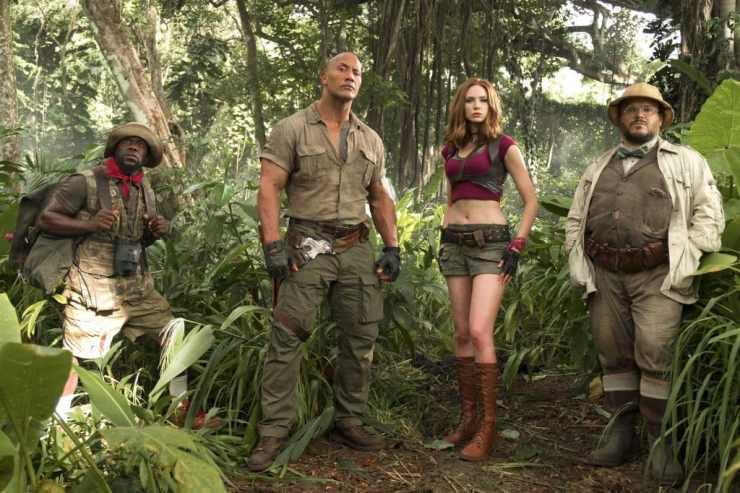 Jack Black, Karen Gillan, Dwayne Johnson, and Kevin Hart - Jumanji: Welcome To The Jungle Review