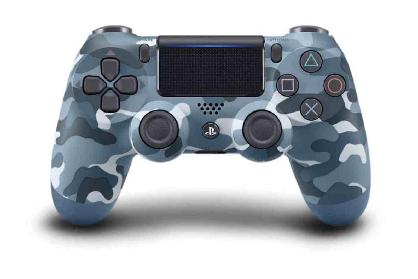 Blue Camoflauge PS4