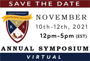 Save the Date: Residential College Symposium, November 10-12, 2021 (12p-5p EST)