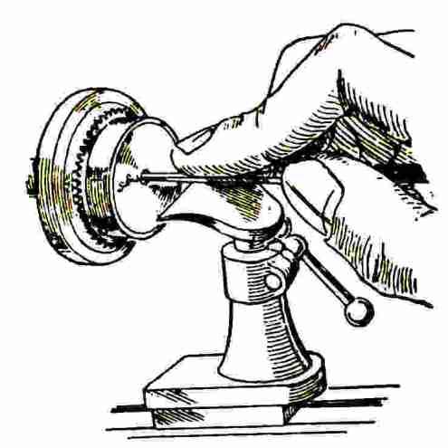 Ripassatura del foro del bariletto