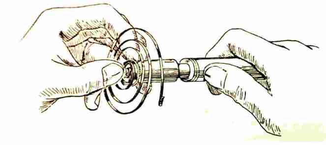 Avvolgimento della molla motrice