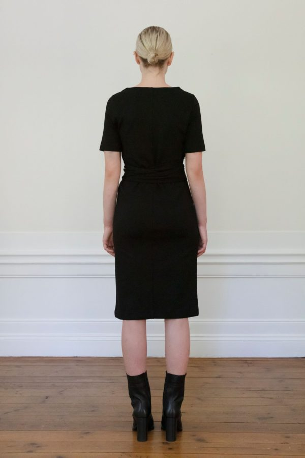 Residus Lilith Ecovero Dress Black from the back