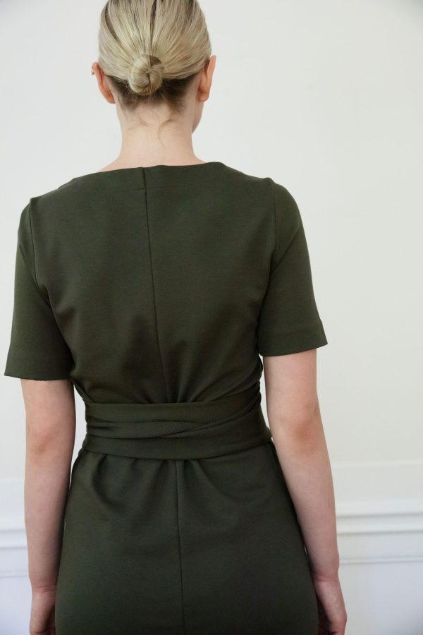 Residus dress Lilith Ink Green back detail