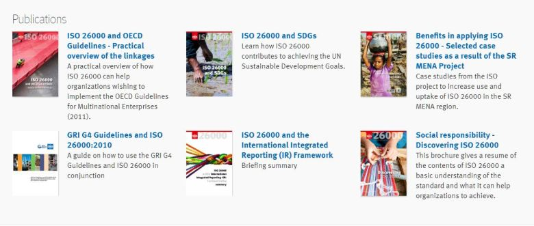 ISO 26000 publications
