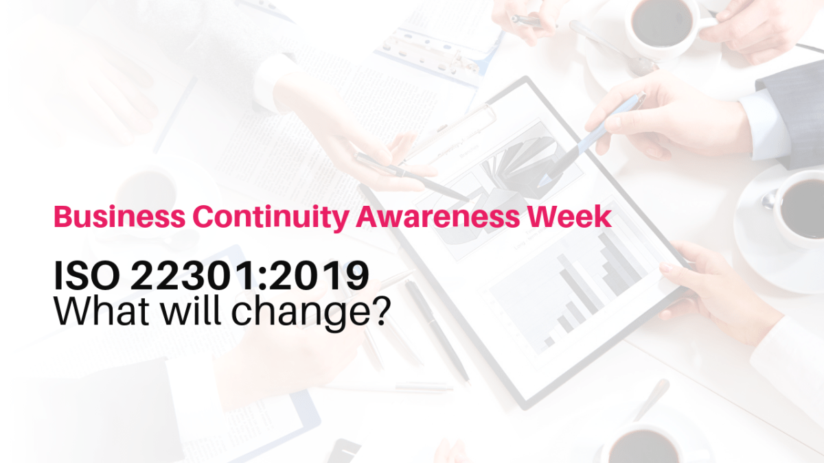 ISO 22301:2019 What will change?