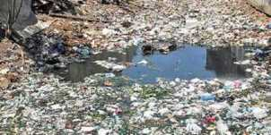 File picture of garbage filling up the Mambalam canal near Vijayaraghava Road in city