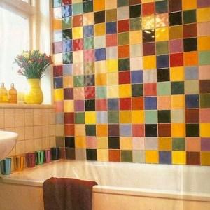 Parlak Ve Renkli Banyo Tasarım Fikirleri (2)