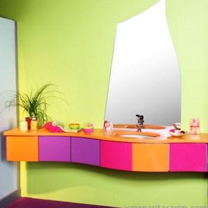 Parlak Ve Renkli Banyo Tasarım Fikirleri (21)