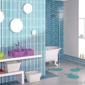 Parlak Ve Renkli Banyo Tasarım Fikirleri (25)