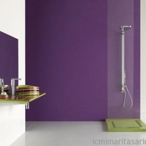 Parlak Ve Renkli Banyo Tasarım Fikirleri (34)