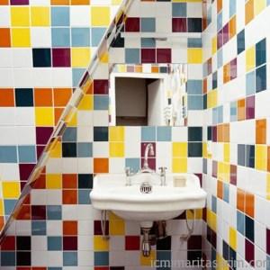 Parlak Ve Renkli Banyo Tasarım Fikirleri (39)