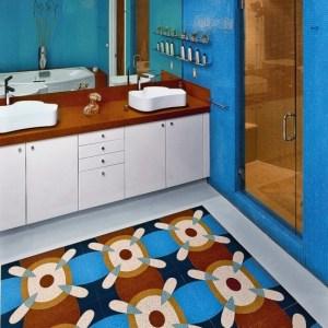 Parlak Ve Renkli Banyo Tasarım Fikirleri (41)