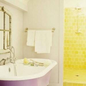 Parlak Ve Renkli Banyo Tasarım Fikirleri (42)