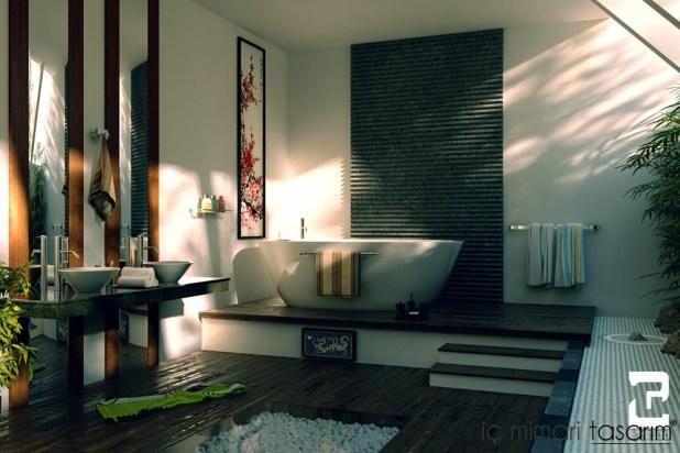Banyoları Doğayla Buluşturan Tasarımlar (14)