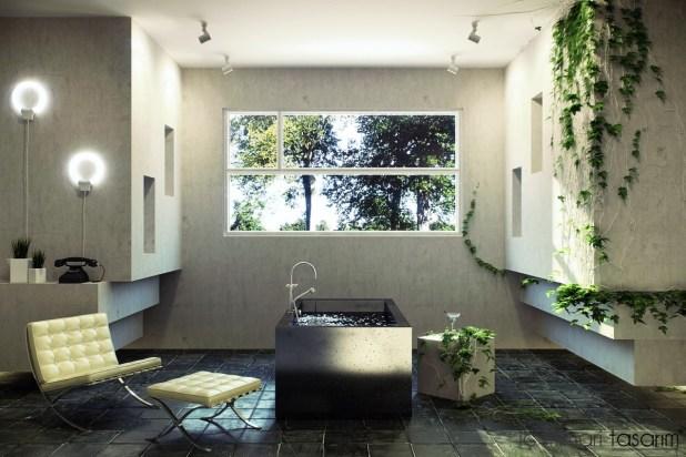 Banyoları Doğayla Buluşturan Tasarımlar (24)