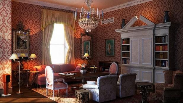 Klasik-retro-tarzı-modern-yaşam-alanı-tasarımları (6)