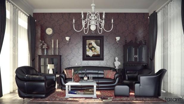 Klasik-retro-tarzı-modern-yaşam-alanı-tasarımları (9)