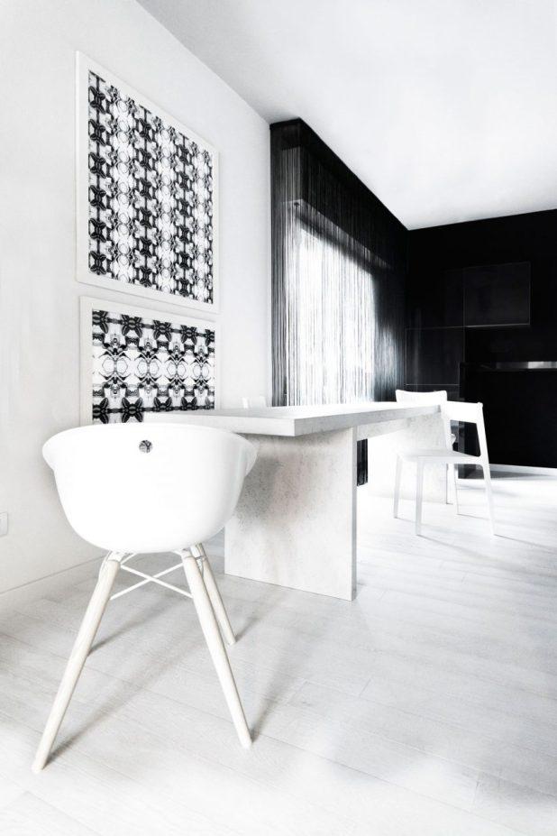 İtalyan Stili Beyaz Moder Ev Tasarımıları (15)