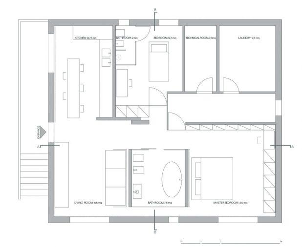 İtalyan Stili Beyaz Moder Ev Tasarımıları (6)
