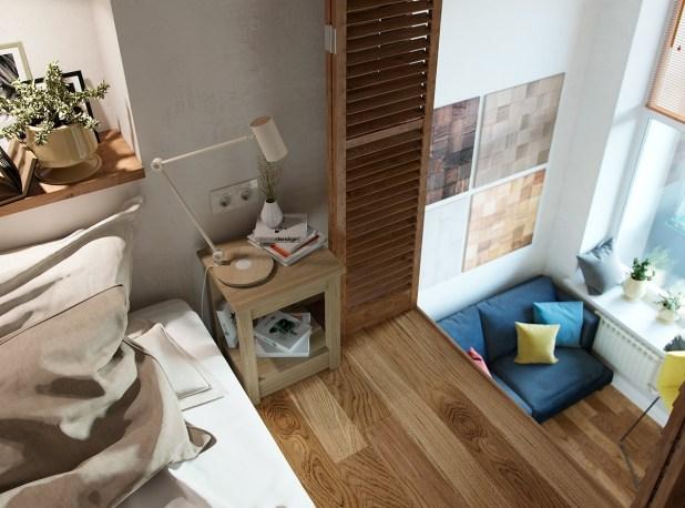 Yüksek Tavanlı Küçük Evlerde Ferahlık Veren İç Dekorasyon (18)
