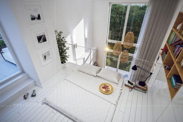 Yüksek Tavanlı Küçük Evlerde Ferahlık Veren İç Dekorasyon (3)