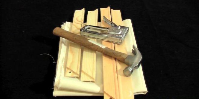 Tuval nedir, Tuval nasıl hazırlanır, canvas bez,ahşap zımba makinası