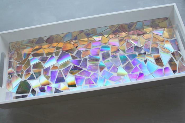 dvd mosaic high gloss resin tray