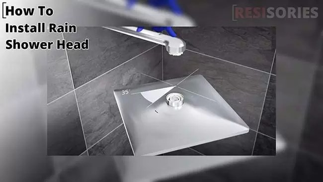 How to install rain shower head with handheld combo set