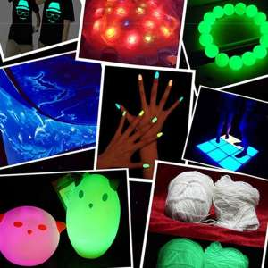 Festive and spooky Glow in black light fun stuff