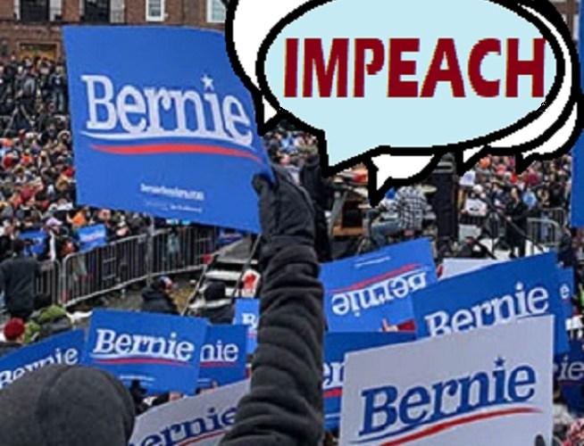 crowd calls for impeachment of donald trump