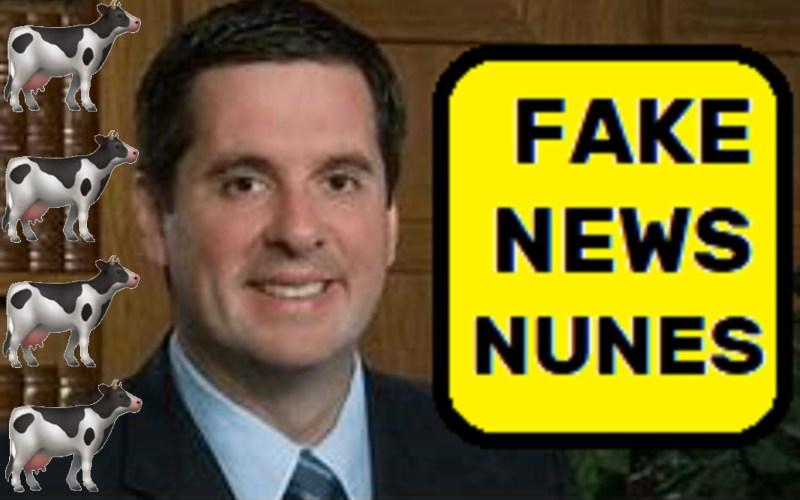 Fake News idiot Republican't Devin Nunes