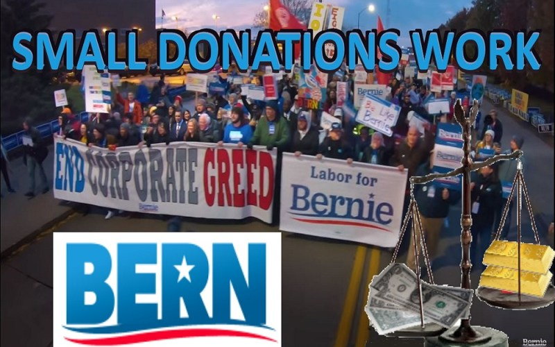 why small donations work to elect Bernie for President