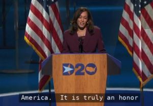 DNC 2020 Nomination of Kamala Harris as VP candidate