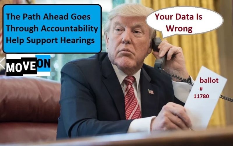 Trump Dialing For Election Fraud -MoveOn Trump Crimes Commission
