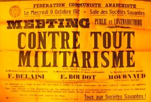 Affiche Contre tout militarisme