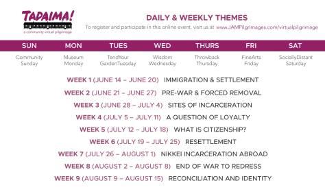 week by week calendar